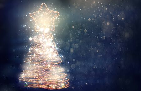 Background Of Christmas Tree Lights
