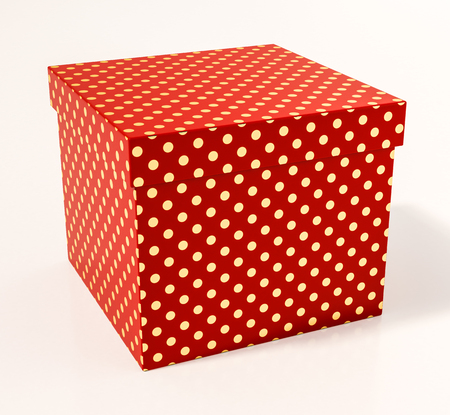 shoe box: Red Cardboard Gift Box, Packaging for Shopping and Gift, Red Christmas Gift, Red Cube, Red Polka Dot Gift Box, Anniversary Gift, Red Shoe Box
