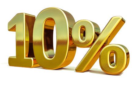 Oro 10 per cento fuori segno sconto, modello di Banner in vendita, offerta speciale sconto del 10% Tag, dieci percentuali su adesivo, simbolo vendita oro, adesivo oro, Banner, pubblicità, vendita oro 10%