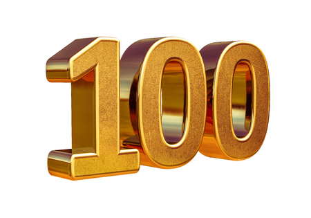 100th Anniversary, 100th birthday, 100 years, Number One Hundred Gold, Numeral 100, 100 Greeting Card, 100th Number, Numeral 100,  100 Years Anniversary Gold Sign, Number Hundred,  Anniversary Banner