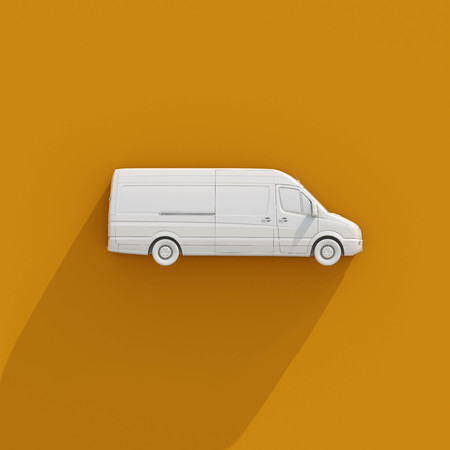 panel van: 3в Postal Van Illustrates the Express Fast Free Home Delivery of Cargo, Home Delivery Icon, Delivery Van Icon, Transporting Service, Freight Transportation, Packages Shipment, International Logistics Stock Photo