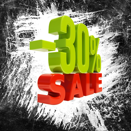 simbolos matematicos: 30 Percent Discount, Sale Up to 30%, Retail Image 30% Sale Sign,  Special Offer, Money Smarts Sticker, Save On 30%, 30% Off, Budget-Friendly, Cost-Cutting Tricks, Low-Cost, Low-Priced, Reduce Cost Foto de archivo