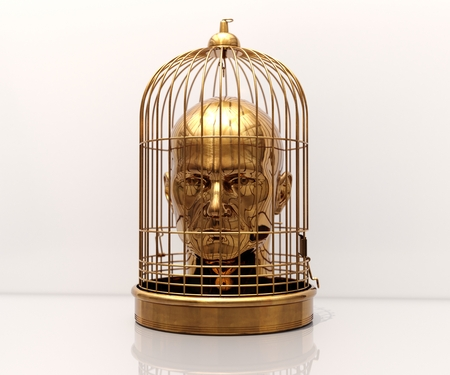 Man with a Cage on His Head, Free Himself, Freedom, Man Trapped, Prisoner in Cage, Employee Theft, Man Caged, Wedding Background, Business Discipline, Game Over, Stressed Man, Unlock Potential
