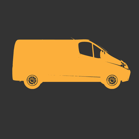 Postal Van Illustrates the Express Fast Free Home Delivery of Cargo, Home Delivery Icon, Delivery Van Icon, Transporting Service, Freight Transportation, Packages Shipment, International Logistics Illustration