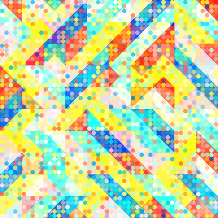 Abstract 1980 Memphis Geometric Pop Art Pattern, Fashion Urban Backdrop for Textile, Wrapping Paper, Trendy Lines Elements, Triangles, Fun 80 Design Elements,  Irregular Patches