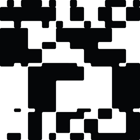 contrast resolution: Black and White Abstract Rounded Rectangles Graphic Art, Rounded Rectangles Art Background, Black and White Background. Illustration