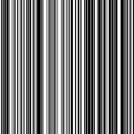 Black and White Straight Vertical Variable Width Stripes, Monochrome Lines Pattern.