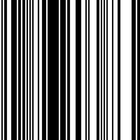 Black and White Straight Vertical Variable Width Stripes, Monochrome Lines Pattern. Фото со стока - 89311724