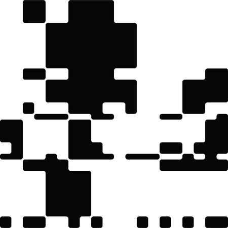 contrast resolution: Black and White Abstract Rounded Rectangles Graphic Art, Rounded Rectangles Art Background, Black and White Background, Pixel Art Design Element, Digital Camouflage