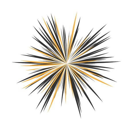 Abstract star rays, holiday firework, dynamite burst, sun burst, star burst sunshine, radiating from the center of beams, abstract explosion Illustration