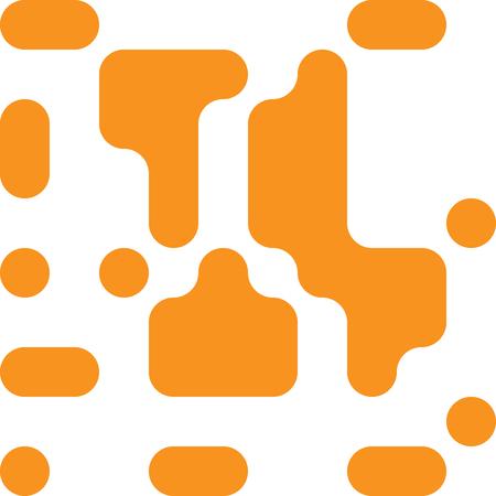 Rounded Flow Squares, Pixelated Effect Background, 8 Bit Pixel Art Design Element, Digital Camouflage, QR Code Sign, Rounded Rectangle Pixels