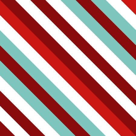 Seamless pattern in Christmas traditional colors. Straight diagonal thin line abstract background. Striped geometric ornament, oblique lines texture. Ilustração