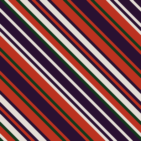 A Seamless Pattern in Christmas Traditional Colors. Straight Diagonal Thin Line. Abstract Background, Striped Geometric Ornament, Vector Parallel Slanting, Oblique Lines Texture