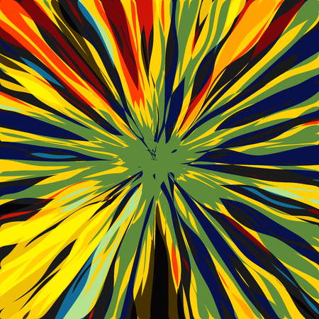 dynamite: Luxurious Shining Star Radial Art Composition, Design for Poster, Card, Invitation, Placard, Brochure, Flyer