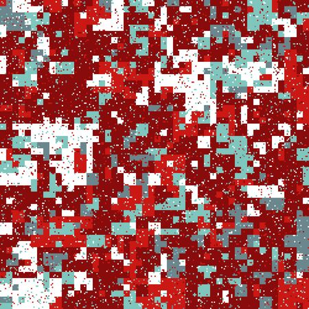 New Years Christmas Pixel Patterns, Modern Xmas Backgrounds, Winter Fashion Pattern Swatches made with Christmas Colors