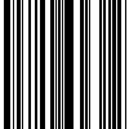 Black and White Straight Vertical Variable Width Stripes, Monochrome Lines Pattern, Vertically Seamless, Straight Parallel Vertical Lines, Fashion Geometric Monochrome Random Streaks Ilustração