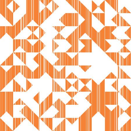 Abstraction de style moderne avec composition faite de divers triangles et lignes, mode Orange fond de formes géométriques, motif tendance mosaïque de soleil Vecteurs