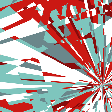 Abstract Dynamic Background, Fractal Explosion Star, Sunburst Background