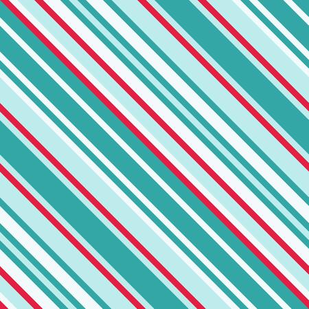 Nahtloses Muster in Weihnachtstraditionellen Farben, gerade diagonale dünne Linie Zusammenfassungs-Hintergrund, gestreifte geometrische Verzierung, Vektor-paralleles Schrägen, schiefe Linien Beschaffenheit Vektorgrafik