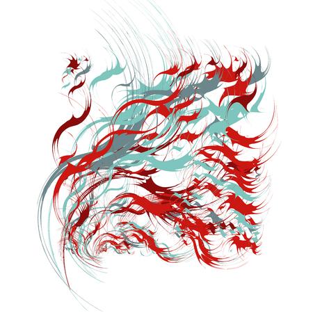 Grunge Blots Design Elements Illustration
