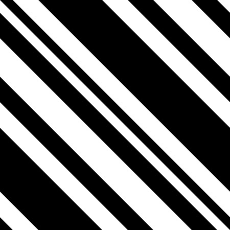 Abstract Black and White Diagonal Striped Seamless Pattern, Vector Parallel Slanting, Oblique Lines Texture