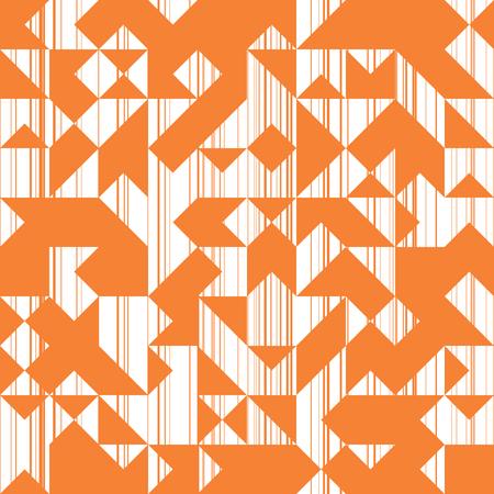 Moderní styl abstrakce s kompozicí z různých trojúhelníků a linií, módní oranžové pozadí geometrických tvarů, slunce trendy mozaikový vzor