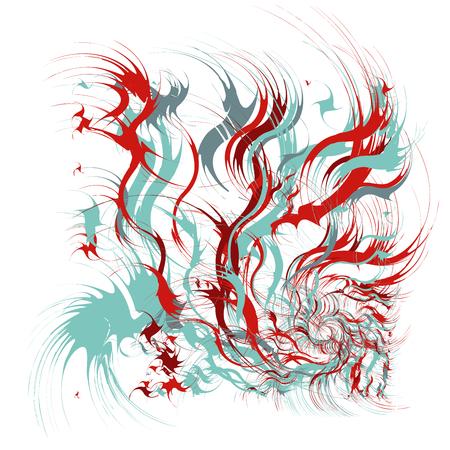 Splash Background with Drops, Grunge Blots Design Elements