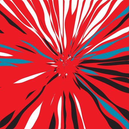 Luxurious Shining Star Radial Art Composition, Design for Poster, Card, Invitation, Placard, Brochure, Flyer