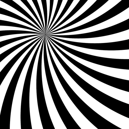 Black and White Sun Rays, Beams Element, Sunburst Pattern, Starburst Shape on White Background. Radiating, Radial, Merging Lines, Abstract Circular Geometric Shape Illustration