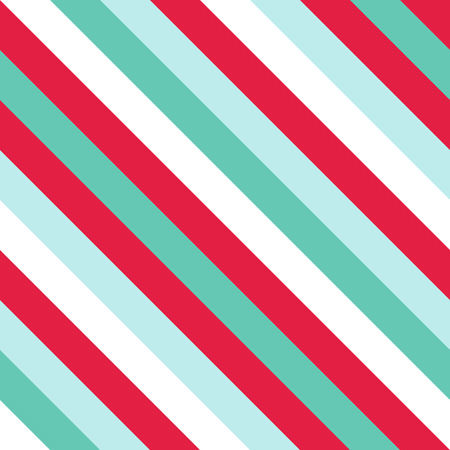 A Seamless Pattern in Christmas Traditional Colors, Straight Diagonal Thin Line Abstract Background, Striped Geometric Ornament, Vector Parallel Slanting, Oblique Lines Texture