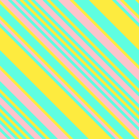 Seamless Pattern in Memphis Neon Colors, Straight Diagonal Thin Line Abstract Background, Striped Geometric Ornament, Vector Parallel Slanting, Oblique Lines Texture Illustration