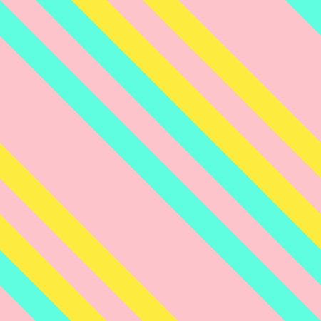 Seamless Pattern in Memphis Neon Colors, Straight Diagonal Thin Line Abstract Background, Striped Geometric Ornament, Vector Parallel Slanting, Oblique Lines Texture. Ilustração