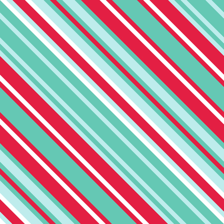 Seamless Pattern in Christmas Traditional Colors, Straight Diagonal Thin Line Abstract Background, Striped Geometric Ornament, Vector Parallel Slanting, Oblique Lines Texture. Ilustração