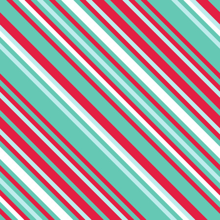 Seamless pattern in Christmas traditional colors. Straight diagonal thin line abstract background. Striped geometric ornament. Vector parallel slanting, oblique lines texture. Ilustração