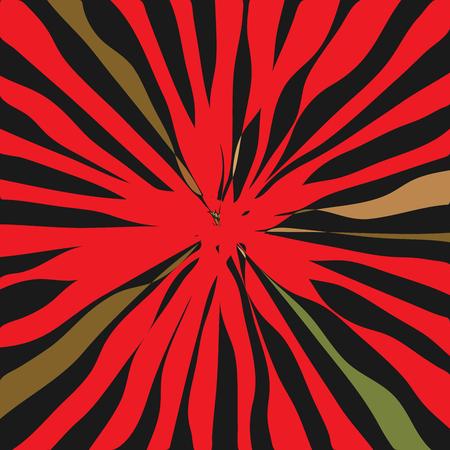 Luxurious Shining Star Radial Art Composition vector