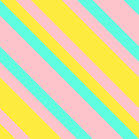 Seamless pattern in Memphis neon colors. Straight diagonal thin line abstract background. Striped geometric ornament, vector parallel slanting. Oblique lines texture.