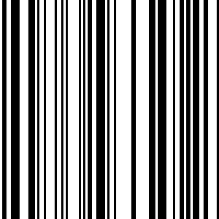 Black and White Straight Vertical Variable Width Stripes, Monochrome Lines Pattern, Vertically Seamless, Straight Parallel Vertical Lines, Fashion Geometric Monochrome Random Streaks Vectores