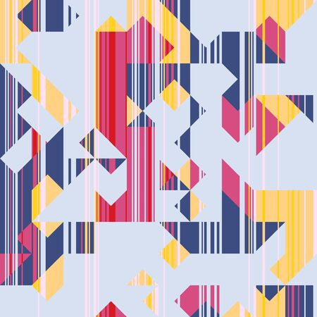 Modern Style Abstraction with Composition Made of Various Triangles and Lines, Fashion Background of Geometric Shapes, Trendy Mosaic Pattern.