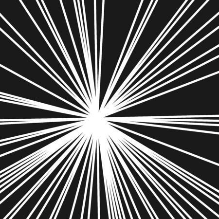 Stripes Image with Light Beams and Rays, Radial Lines Background of Sun Rays or Star Burst Design Element, Fashion Explosion Graphic Art