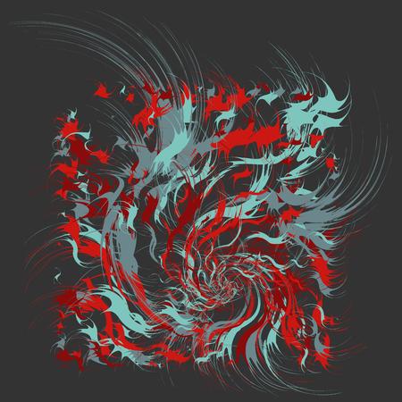 Paint Splatters, Paint Splashes Shapes, Fashion Abstract Art, Splash Background with Drops, Grunge Blots Design Elements Illustration
