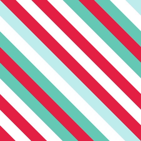 Seamless Pattern in Christmas Traditional Colors, Straight Diagonal Thin Line Abstract Background, Striped Geometric Ornament, Vector Parallel Slanting, Oblique Lines Texture