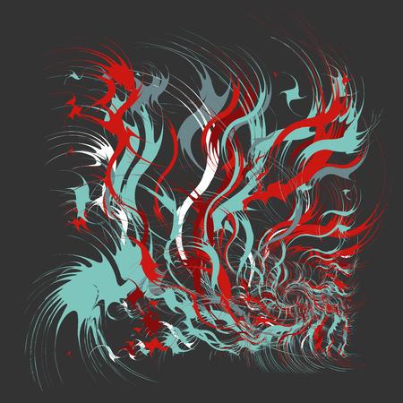Paint splatters, Paint splashes shapes. Fashion abstract art, splash background with drops. Grunge blots design elements.