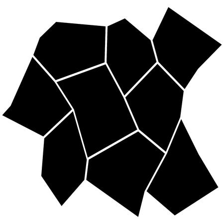 Black and White Irregular Grid  Modular Structure Mesh Pattern  Vector illustration. Illustration