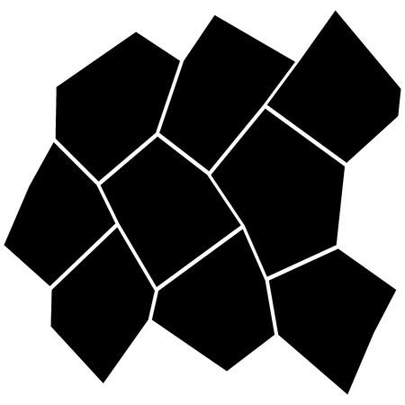 Black and white irregular grid pattern. Illustration