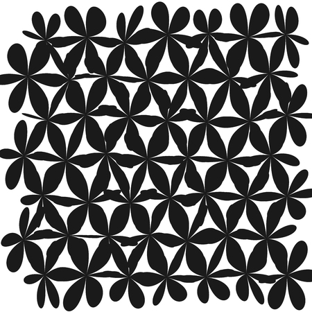 Whimsical Floral Background Flower Black and White Exquisite Gentle Floral Graphic Ornament Illustration