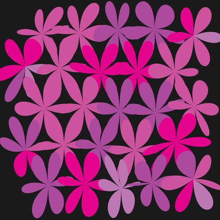 Whimsical Floral Background in pink and purple.