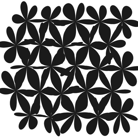 Whimsical Floral Background Flower Black and White Exquisite Gentle Floral Graphic Ornament minimalistic Fashion Ornament Flower. Illustration