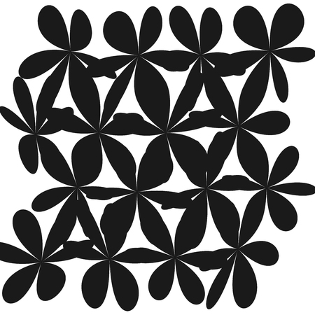 Whimsical floral background, pink flower on black. Exquisite gentle floral graphic ornament. Minimalistic fashion ornament. Flower black and white