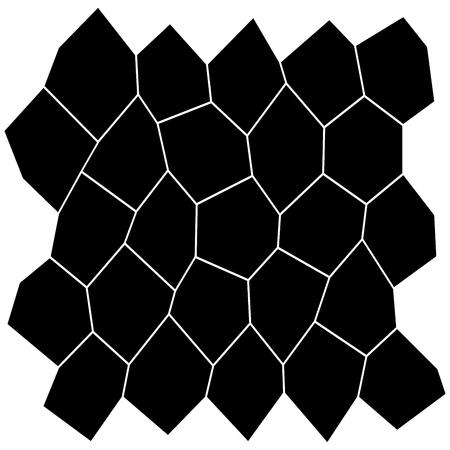 Black and White Irregular Grid vector illustration