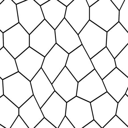 Black and White Irregular Grid vector illustration Banco de Imagens - 91959519